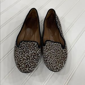 Donald Pliner Cheetah Pony Hair Denda Flats - sz 6